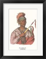 Framed Ne-O-Mon-Ne, an Ioway Chief