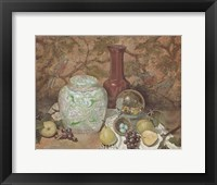 Framed Ginger Jar with Bird Nest