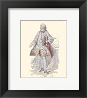 Framed French Costumes