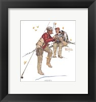 Trout Dinner Framed Print