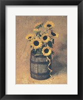 Framed Nine Sunflowers