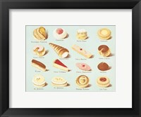 Framed Variety of Fancy Pastry