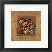 Pomegranates and Grapes Framed Print