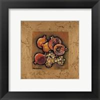 Pomegranates and Grapes Framed Print
