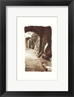Archway and Stone Jar Framed Print