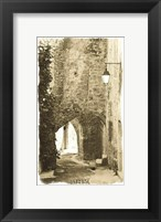 Archway with Lamp Framed Print