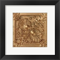 Copper Floral Rosette Framed Print