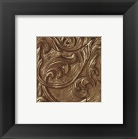 Framed Copper Leaf Frieze