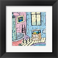 Cottage Bath Framed Print