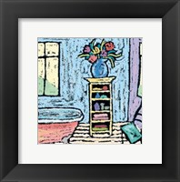 Blue Room Bath Framed Print