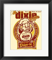 Framed Dixie Piggie Drive-In