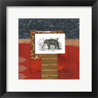 Framed Savannah Elephant