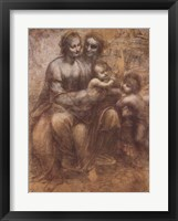 Framed Virgin and Child with St. Anne