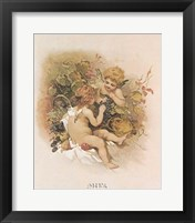 Framed Adoring Cupids