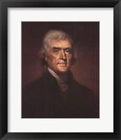 Framed Thomas Jefferson