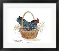 Framed Chicken in a Basket
