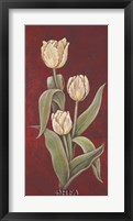 Tulips on Cinnabar II Framed Print