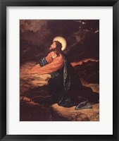 Framed Christ in Gethsemane