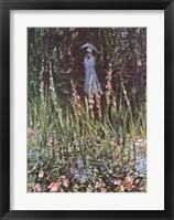 Framed Madame Monet in Her Garden at Giverny