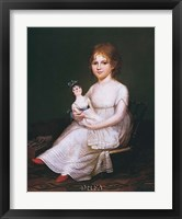Framed Girl Holding a Doll