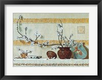 Framed Quince Blossoms