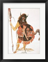 Leader of Mandan Buffalo Bull Society Framed Print