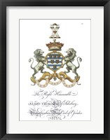 Framed Coat of Arms - James Cecil of Salisbury