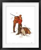 Careful Aim Framed Print