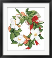 Framed Magnolia Wreath