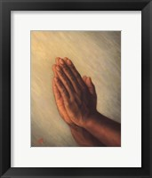 Framed Praying Hands