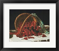 Framed Basket of Cherries
