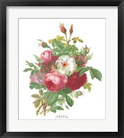 Framed Antique Roses