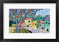 Village Morning Framed Print