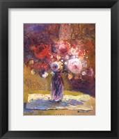 Moody Roses Framed Print