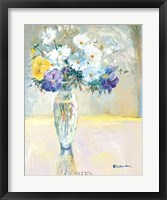 Daisies and Pansies, a Loose Bond Framed Print