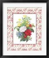Framed Camellias and Toile