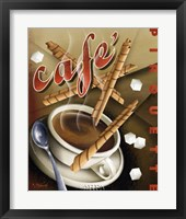 Cafe Pirouette Framed Print