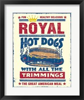 Framed Royal Hot Dogs