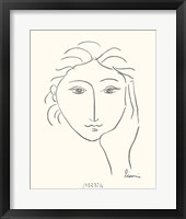 Framed Woman's Face Sketch II
