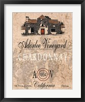 Adorlee Vineyards Framed Print