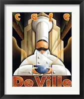 Cafe de Ville Framed Print