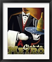 Club de Metro Framed Print