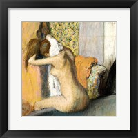 Framed After the Bath, Woman Drying her Neck