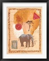 Framed Travel Elephant