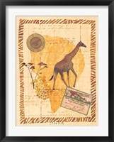 Travel Giraffe Framed Print