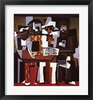 Framed Three Musicians