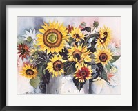 Country Sunflowers Framed Print