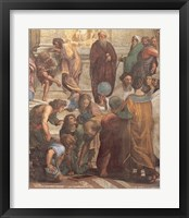 The School of Athens (Detail, Right) Framed Print