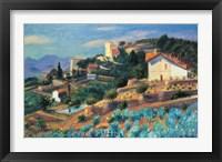 Framed Riviera Hillside