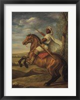 Framed Moorish Chieftain on Horseback